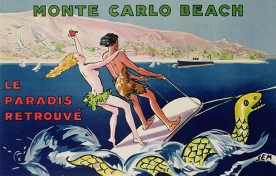 Monte Carlo Beach Le Paradis Retrouve 1932 | Sex Appeal Vintage Ads and Covers 1891-1970