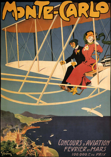 Monte-Carlo Concours D Aviation France Air | Sex Appeal Vintage Ads and Covers 1891-1970