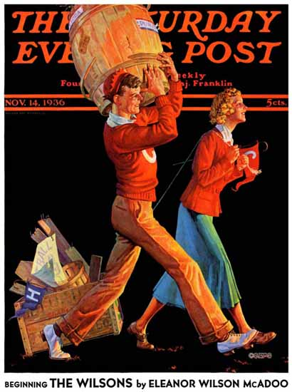 Monte Crews Saturday Evening Post After the Game 1936_11_14 | The Saturday Evening Post Graphic Art Covers 1931-1969