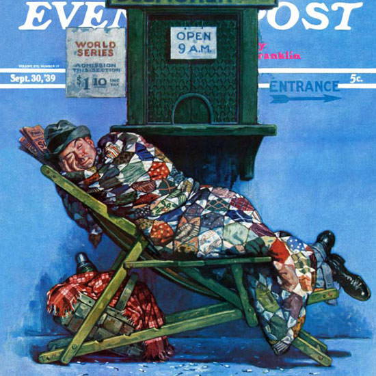 Monte Crews Saturday Evening Post First Line 1939_09_30 Copyright crop | Best of Vintage Cover Art 1900-1970