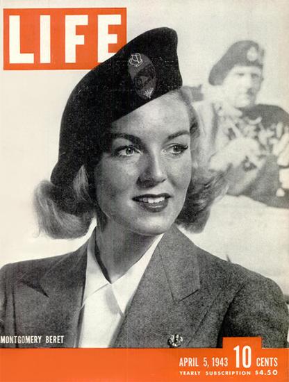 Montgomery Beret 5 Apr 1943 Copyright Life Magazine | Life Magazine BW Photo Covers 1936-1970