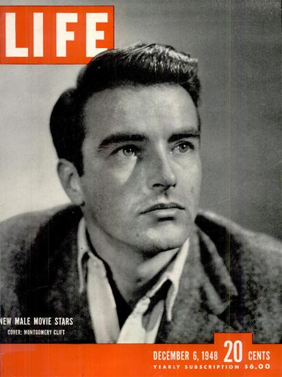 Montgomery Clift 6 Dec 1948 Copyright Life Magazine | Life Magazine BW Photo Covers 1936-1970
