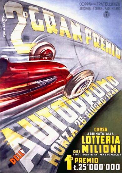 Monza 1949 Gran Premio Autodromo Codognato | Vintage Ad and Cover Art 1891-1970