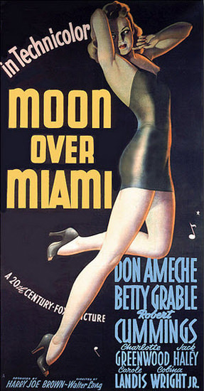 Moon Over Miami Betty Grable Movie 1942 | Sex Appeal Vintage Ads and Covers 1891-1970