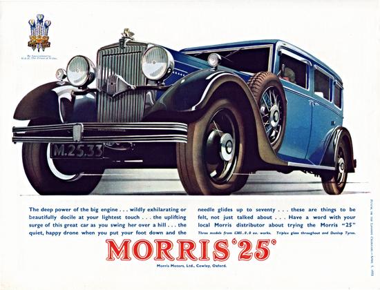 Morris 25 1933 Blue Cowley | Vintage Cars 1891-1970