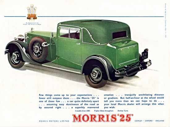 Morris 25 Sports Coupe 1933 Cowley | Vintage Cars 1891-1970