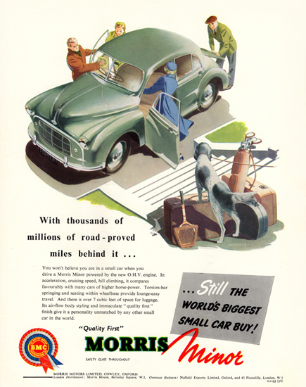 Morris Minor 1954 Worlds Biggest Small Car | Vintage Cars 1891-1970