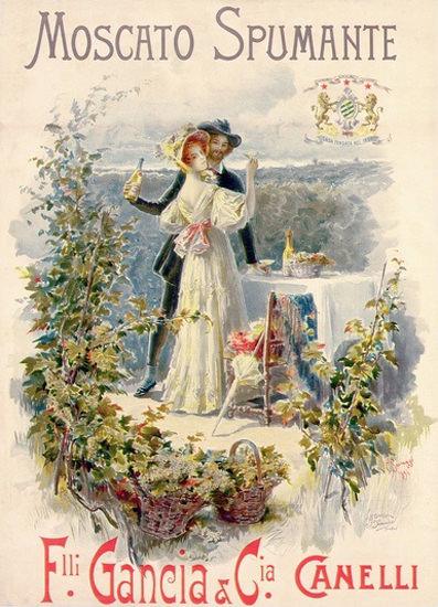 Moscato Spumante Gancia Canelli Italia 1896 | Vintage Ad and Cover Art 1891-1970