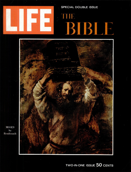 Moses by Rembrandt Painting 25 Dec 1964 Copyright Life Magazine   Life Magazine Color Photo Covers 1937-1970