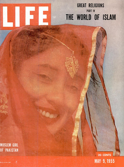 Moslem Girl from Pakistan 9 May 1955 Copyright Life Magazine | Life Magazine Color Photo Covers 1937-1970