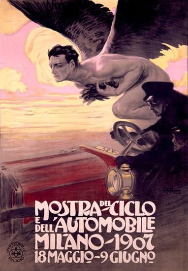 Mostra Del E Dell Automobile Ciclo Milano 1907 | Sex Appeal Vintage Ads and Covers 1891-1970