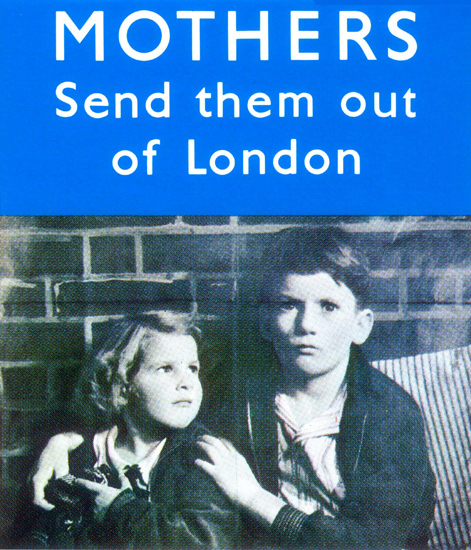 Mother Send Them Out Of London UK | Vintage War Propaganda Posters 1891-1970