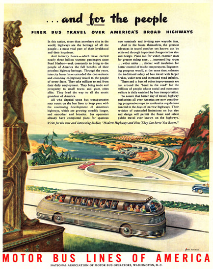 Motor Bus Lines America Washington For People | Vintage Cars 1891-1970