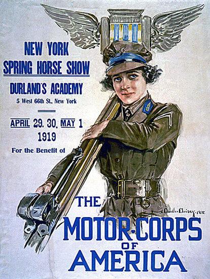 Motor Corps Of America | Vintage War Propaganda Posters 1891-1970