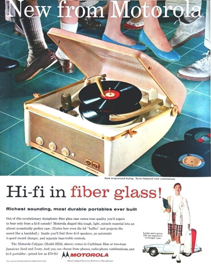 Motorola Hi-Fii In Fiber Glass   Vintage Ad and Cover Art 1891-1970