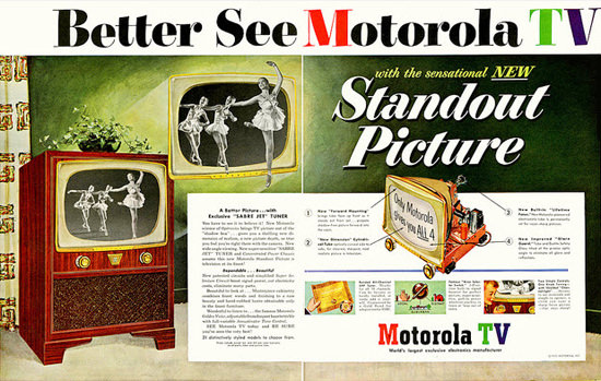 Motorola TV Standout Picture | Vintage Ad and Cover Art 1891-1970