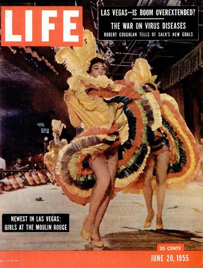 Moulin Rouge Girls in Las Vegas 20 Jun 1955 Copyright Life Magazine   Life Magazine Color Photo Covers 1937-1970