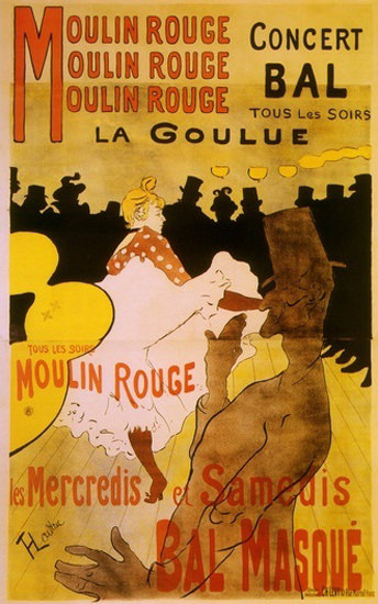Moulin Rouge La Goulue Bal Masque Toulouse | Sex Appeal Vintage Ads and Covers 1891-1970