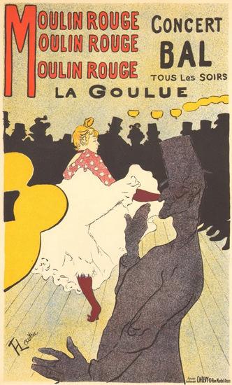 Moulin Rouge La Goulue Henri De Toulouse | Sex Appeal Vintage Ads and Covers 1891-1970