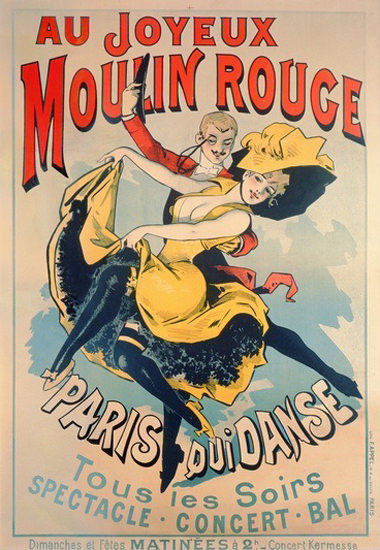 Moulin Rouge Paris Qui Dance Spectacle Bal | Sex Appeal Vintage Ads and Covers 1891-1970