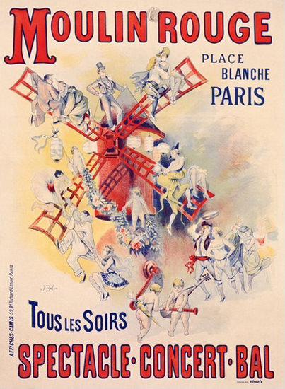 Moulin Rouge Place Blanche Paris Jose Belon | Sex Appeal Vintage Ads and Covers 1891-1970