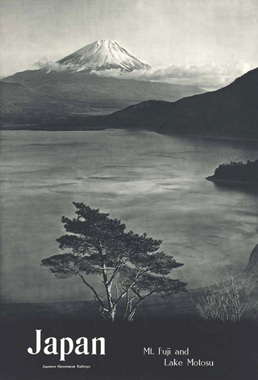 Mount Juji Lake Molosu Japan | Vintage Travel Posters 1891-1970