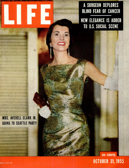 Mrs Averell Clark Seattle Party 31 Oct 1955 Copyright Life Magazine   Life Magazine Color Photo Covers 1937-1970
