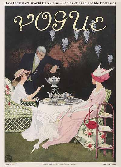 Mrs Newell Tilton Vogue Cover 1911-07-01 Copyright | Vogue Magazine Graphic Art Covers 1902-1958