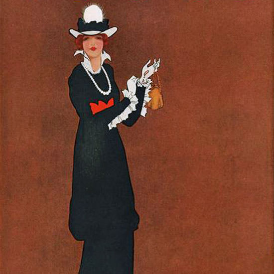 Mrs Newell Tilton Vogue Cover 1912-05-15 Copyright crop | Best of Vintage Cover Art 1900-1970