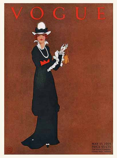 Mrs Newell Tilton Vogue Cover 1912-05-15 Copyright | Vogue Magazine Graphic Art Covers 1902-1958
