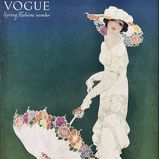 Mrs Newell Tilton Vogue Cover 1913-04-15 Copyright crop | Best of Vintage Cover Art 1900-1970