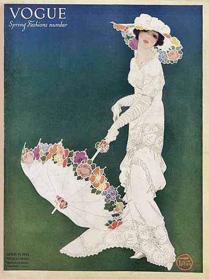 Mrs Newell Tilton Vogue Cover 1913-04-15 Copyright | Vogue Magazine Graphic Art Covers 1902-1958
