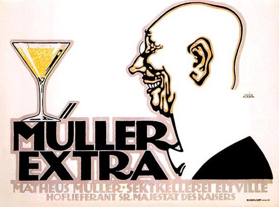Mueller Extra Sektkellerei Eltville 1912   Sex Appeal Vintage Ads and Covers 1891-1970