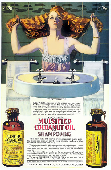 Mulsified Coconut Oil For Shampooing Coles Phillips | Sex Appeal Vintage Ads and Covers 1891-1970