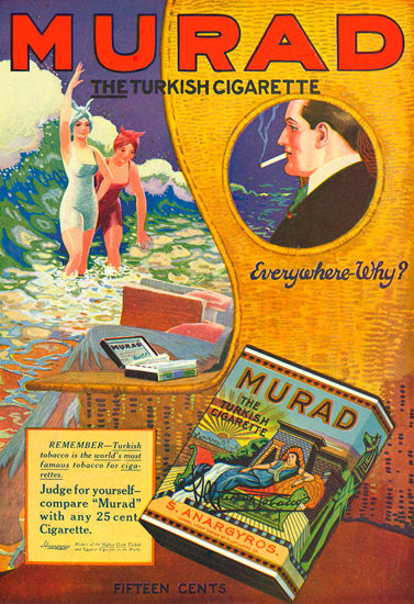 Murad Turkish Cigarettes Everywhere Why | Vintage Ad and Cover Art 1891-1970