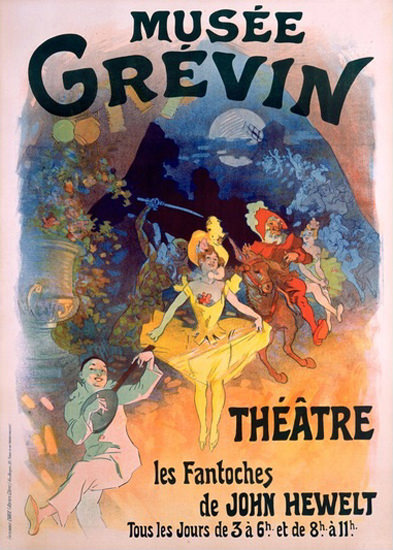 Musee Grevin Theatre Les Fantoches Hewelt | Sex Appeal Vintage Ads and Covers 1891-1970