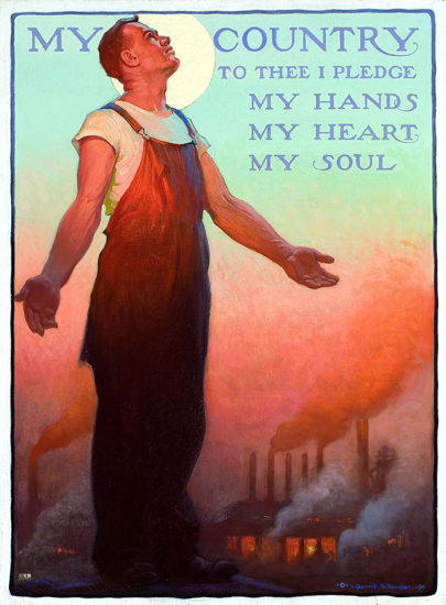 My Country My Hands My Heart My Soul | Vintage War Propaganda Posters 1891-1970