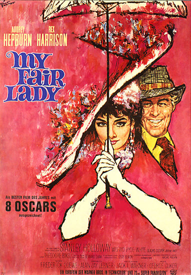 My Fair Lady Audrey Hepburn Rex Harrison | Sex Appeal Vintage Ads and Covers 1891-1970