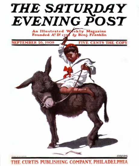 NC Wyeth Saturday Evening Post Cover Art 1908_09_26 | The Saturday Evening Post Graphic Art Covers 1892-1930