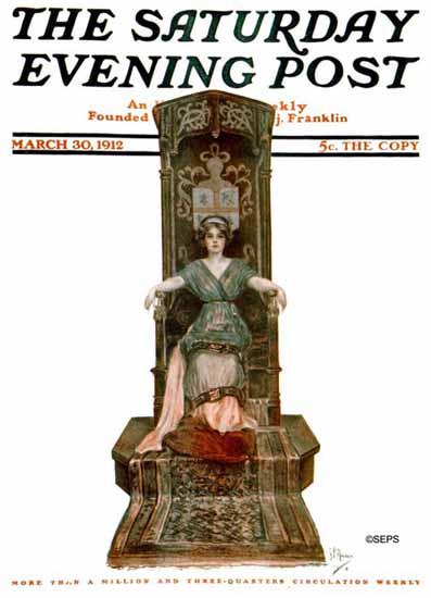 NP Zarokilli Artist Saturday Evening Post 1912_03_30 | The Saturday Evening Post Graphic Art Covers 1892-1930