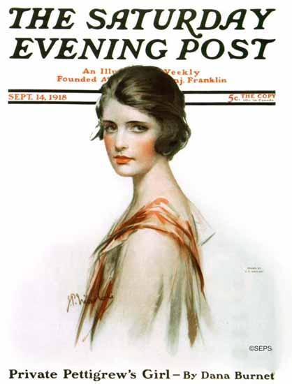 NP Zarokilli Artist Saturday Evening Post 1918_09_14   The Saturday Evening Post Graphic Art Covers 1892-1930
