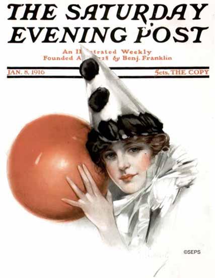 NP Zarokilli Cover Artist Saturday Evening Post 1916_01_08 | The Saturday Evening Post Graphic Art Covers 1892-1930