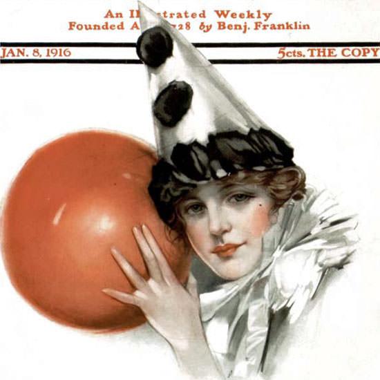 NP Zarokilli Saturday Evening Post 1916_01_08 Copyright crop | Best of Vintage Cover Art 1900-1970