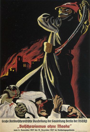 NSDAP Bolschewismus Ohne Maske 1937 Nazi | Vintage War Propaganda Posters 1891-1970