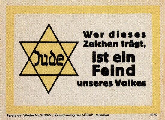 NSDAP Feind Unseres Volkes Judenstern 1942 | Vintage War Propaganda Posters 1891-1970
