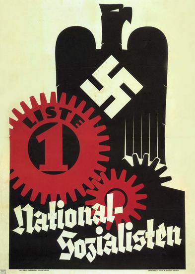 NSDAP National-Sozialisten Nazi Party | Vintage War Propaganda Posters 1891-1970