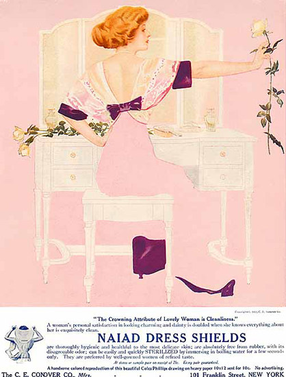 Naiad Dress Shields Girl Conover New York Coles Phillips | Sex Appeal Vintage Ads and Covers 1891-1970