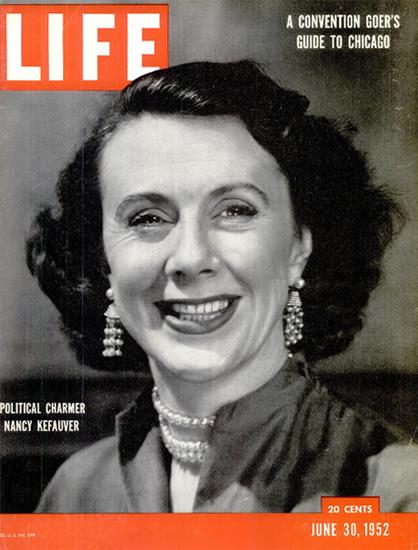 Nancy Kefauver Political Charmer 30 Jun 1952 Copyright Life Magazine | Life Magazine BW Photo Covers 1936-1970