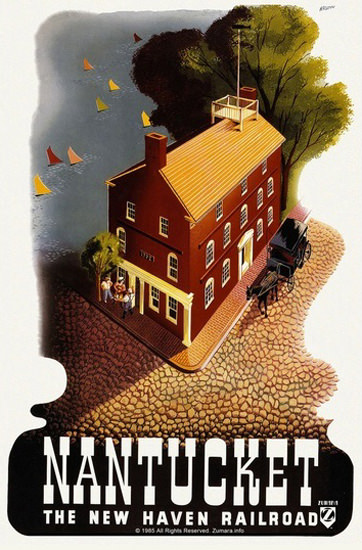 Nantucket New Haven Railroad | Vintage Travel Posters 1891-1970