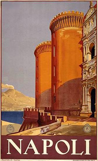 Napoli Italia Italy | Vintage Travel Posters 1891-1970
